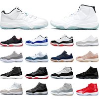 air jordan 11 أحذية كرة السلة 25th الذكرى الأسطورة الأزرق bred concord كاب والثوام UNC رجل المدربين النسائية أحذية رياضية الحجم 36-47