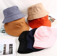 2PCS summer Man joker Wide Brim Hats woman dome fisherman hat Foldable in solid colors Pure cotton sun ha ts Spring, fall, winter,