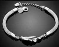 Leaf Style handmade women european charm silver bracelet 2016 wholesale fancy promotion bulk classic jewelry ps0410