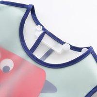 Baby-verstellbare Lätzchen mit Taschenkunststoff wasserdicht Fütterungs-Kittel-Cartoon-Schürze Burpen-Tuch für Säugling-P31B-Tücher