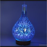 Fragrance Fragrances Décor Home & Gardenfragrance Lamps 3D Fireworks Glass Humidifier Colorful Led Gradient Night Light Aromatherapy Hine Ho