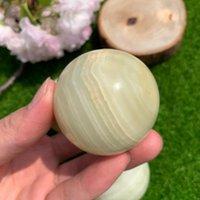 Alta Qualidade Natural Afegão Jade Stone Ball Cura Cristal Esfera Reiki Energia Para Decoração Home Objetos Decorativos Figurines
