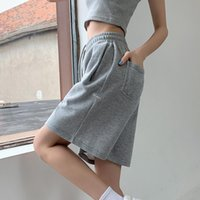 Women's Shorts Loose Uniform Shorts, Wide Leg BF Pants, Knee Length, Casual Harajuku, Simple Collocation, Female Students, Series