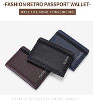 Hommes Womens RFID Blocking Cuir Passport Cover Coffre Coque Portefeuille Cartes d'identité