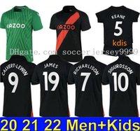 21 22 22 Футбол Футбол Джеймс Аллан Дукур Футбол футболка набор вратаря 2021 2022 Kean Richarlison Vogie Thailand Мужчины детский комплект Униформа
