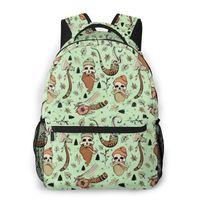Backpack Teenager Bookbag Travel Bag Lumber Jack Traditional Tattoo Pattern For Laptop School Bags