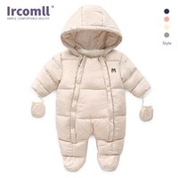 Ircomll ولد طفل رضيع فتاة الشتاء السروال القصير طفل الرضع طويلة الأكمام بذلة القطن زي الزحف الاطفال الملابس تكلف 210910