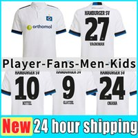 21/22 Hamburger SV Soccer Jerseys Home White Vagnoman Onana Leibold Reis Kittel Glatzel Dudziak 2021 2022 HSV Hommes Football Shirts Uniformes Version Player Ensemble Enfants