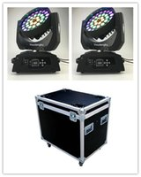 Effetti 2 pezzi con flightcase Pro Stage Disco a LED Testa mobile 36x15 Zoom RGBWA Wash Blouthead Light