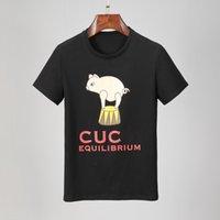 Mens Womens Lussurys Designer T Shirt 2021 Casual magliette da maglieria Abbigliamento Abbigliamento Doppio G Modello G Interblocco Stampato Tees Top con abbigliamento da marca