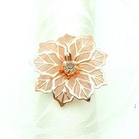 Navarinha de casamento anéis de metal suportes para jantares partido hotel mesa decoração suprimentos fivela owd6178