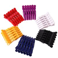 Cabelo de Plástico Clip Pins Cabeleireiros Clips Clips Clips Grip Corte Barbeiros Para Salão Penteados Acessórios Compras