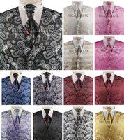 v-cou de haute qualité hommes costume gilets fantaisie paisley fabriqué sur mesure gilet de mariage