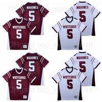 High School Whitehouse Trojans 15 Patrick Mahomes Football Jersey Hommes Sport Respirant Tous cousus Pure Cotton Team Couleur Rouge Blanc Bonne qualité