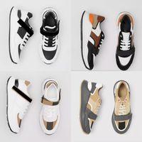 2021 Tasarımcı Erkek Vintage Çek Sneakers Kadın Naylon Süet Ayakkabı Platformu Eğitmenler Bej Deri Dantel-Up Runner Nedensel Ayakkabı ile Kutusu 281