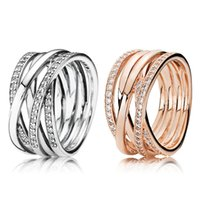 100% 925 Sterling Silver RINGS For Pandora Fashion Ring for Valentines Day European Style Jewelry 2866 Q2