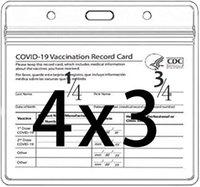سجل بطاقات بطاقة التطعيم الملفات الملفات CDC تطعيم بطاقات حامي غطاء 4x3 بوصة واضح كم للماء PVC مع الرمز البريدي