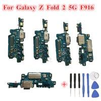1 ADET Orijinal USB Şarj Dock Bağlayıcı Flex Kabloları Değiştirme Samsung Galaxy Z Katlama 2 5G F916 F9160 W21 Şarj Portu Mikrofon Kurulu