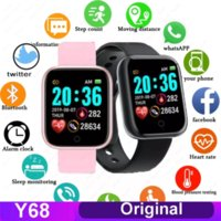 Y68 D20 Bluetooth Watch Wrist strap Fitness Bracelet Blood Pressure Heart Rate Monitor Pedometer Cardio Men Women SmartWatch for IOS Android pk t500 t800 g10 g18 dz09