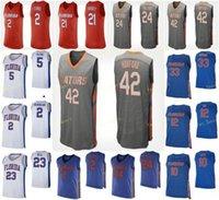 NCAA College Florida Gators Basket Blay Jersey 0 Ques Glover 1 Tre Mann 10 Noah Locke 11 Keyontae Johnson 12 Gorjok Gak personalizzato cucito