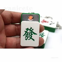 Novelty USB Electric Lighters Rechargeable Turbo Funny Mahjong Keychain Windproof Metal Plasma Lighter For Cigarette Gadgets For Men ZC208