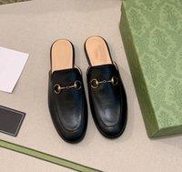 2021 مصمم اللباس أحذية جلد طبيعي النعال جلد البقر الحصان مشبك الكلاسيكية نمط الأزياء تنوعا العلامة التجارية