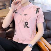 Поло с коротким футболкой Trend Mens 2021 летняя рубашка половина рукава