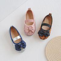 Niños Niñas Suave Abajo Arqueamiento plano Princesa Zapatos Tamaño 21-30 Zapatos para niños Spring and Summer Baby Girls Dance Shoes