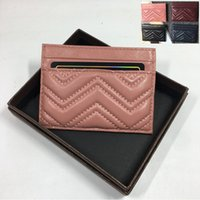 Women Luxury Credit Card Holder Wallet Genuine Leather Business Coin Pocket Purse Bank ID Card Case 2019 New Fashion Female Slim Pouch Bag
