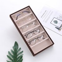 High Quality 6 Grids Sunglasses Display Tray Glasses Holder Sunglasses Storage Box Eyeglasses Collection Jewelry Organizer Box 2269 Q2