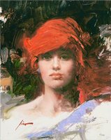 Red Turban Large Oil Painting On Canvas Home Decor Handcrafts  HD Print Wall Art Pictures Customization is acceptable 21092604