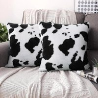 Cushion Decorative Pillow Cow Pattern Case Decorative Sofa Cushion Cover For Bedroom Seat Bed Throw