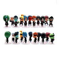 11 Modelos Película Naruto Q Versión Figura Figura Anime 7-8cm Colección de estatuas Decoración de escritorio Juguetes Para Niños Juguete Muñeca Regalo