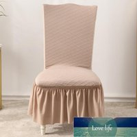 Chair Covers Super Soft Polar Fleece Fabric Skirt Cover Modern Elastic Dining Room Spandex For Kitchen