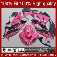 Carrocería para Kawasaki Ninja ZX600 ZX-6R ZX636 600CC 09-12 13NO.169 ZX 6R 600 CC 6 R 636 ZX6R 09 10 2012 2012 ZX-636 ZX600C 2009 2010 11 12 Inyección OEM carenado brillante rosa