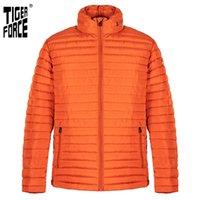 Veste de force Tiger Hommes Printemps Automne Haute Qualité Slim Slim Chaud Hôtel Vêtements De Vêtements De Parka épais Parka 50633