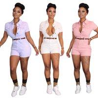 Kadın Tulumlar Tulum 2021 Yaz Kadın Skinny Playsuits V Yaka Düğmesi Sokak Seksi Gece Kulübü Parti Bandaj Tek Parça Kıyafetler