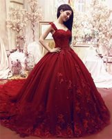 Elegant Quinceanera Dresses Sweet 16 Dress Ball Gown Lace 3D Floral Appliques Beaded Masquerade Puffy Long Prom Evening Formal Wear
