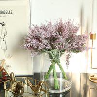 부드러운 접착제 몰려 큰 노송 나무 잎 인공 꽃 장식 홈 식물 벽 결혼식 장식 핸드 꽃 장식 장상