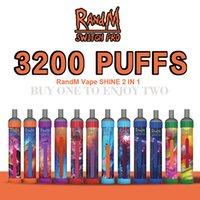 Original Randm Switch PRO LED Light 2in1 3200 Pulves e sigarette Monouso VAPE PEN DEVICE KIT 12 colori