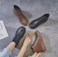boots martin boot shoes women girls knee autumn Winter 2021 Net red female flat single retro British style ankle casual all-match plus fleec usa uk black brown 5 4 11