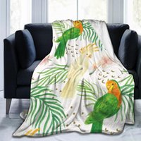 Blankets Unique Blanket To Family Friends Watercolor Summer Tropical Birds Durable Super Soft Comfortable For Home Gift