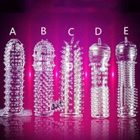 Sex toy extension Transparent crystal condom penis cover reusable mask with tip extended time lovers 5. 1008