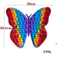Big size 30cm pop it popit Rainbow Butterfly Push Bubble Fidget Toys Stress Relief Toy Autism Needs DHD7736