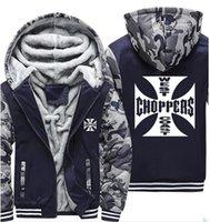 Westküste Chopper gedruckt Hoodies Männer Camouflage Sweatshirts Winter warm verdicken Fleece Zipper Mantel Jacke Harajuku Hoody männlich