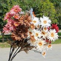 """Faux mélaleuca gerbera (6 têtes / pièce) 32,28 """"Simulation automne chrysanthème pour mariage maison décorative de fleurs artificielles de fleurs de fleurs"""