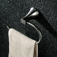 Wall-mounted Stainless Steel Bathroom Accessories Set Towel Ring Brushed Tin for Hotels