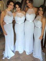 Bridesmaid Dress Elegant Mermaid Dresses Hater Seetheart Sleeveless Floor-Length For Wedding Party