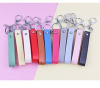 Keychains Handmade Leather Cord PU Keychain Metal Key Ring Men And Women Wristband Car Gift Pendant Accessories