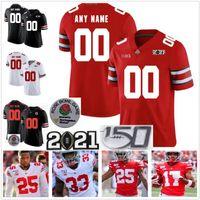 Cusom Ohio State Buckeyes Jersey NCAA College Football Nähte OSU Herren Jeder Name Number 14 KJ Hill JR.28 Ronnie Hickman 27 Eddie George
